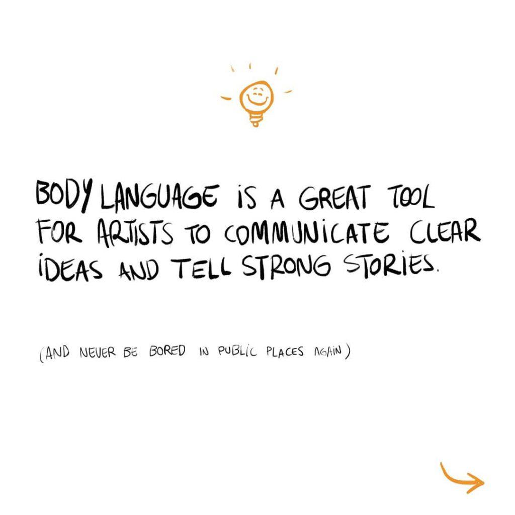dica de linguagem corporal