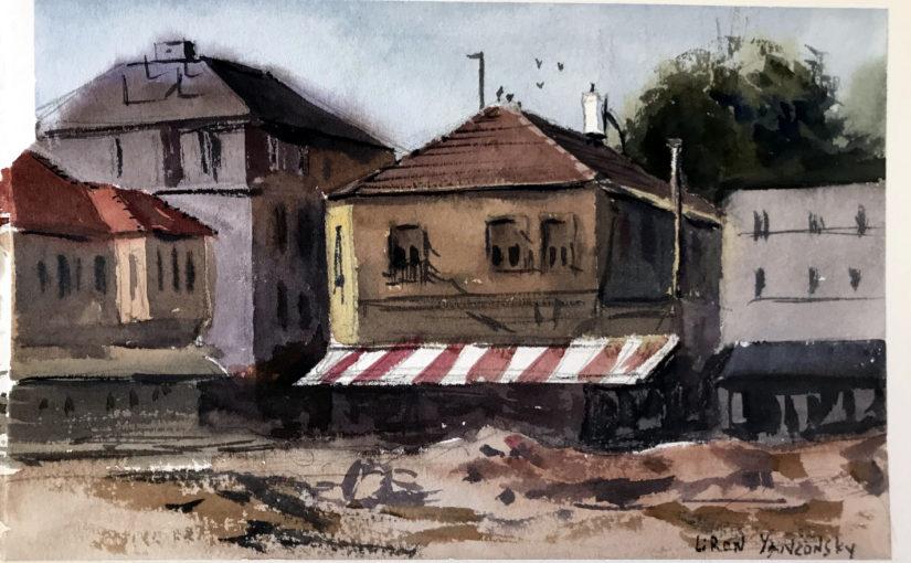 Arte em aquarela de Liron Yanconsky